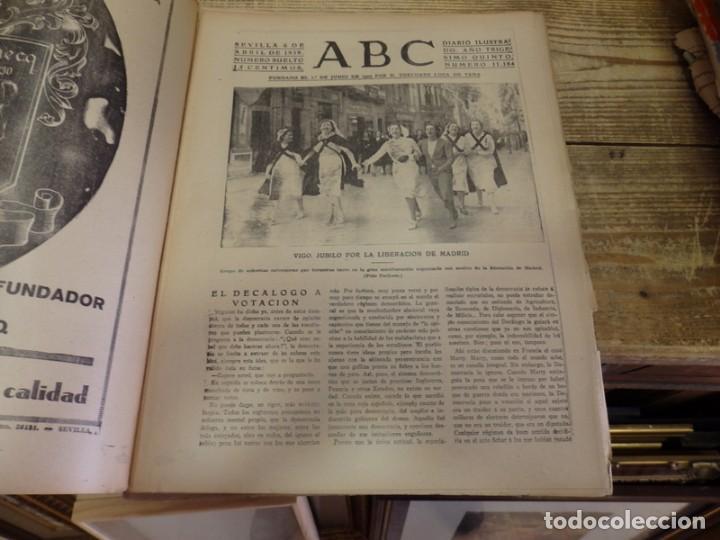 Militaria: ABC 6 de ABRIL de 1939, SEVILLA,22 PAGINAS,LIBERACION DE MADRID,ENTIERRO GARCIA MORATO,SEMANA SANTA, - Foto 2 - 152410410