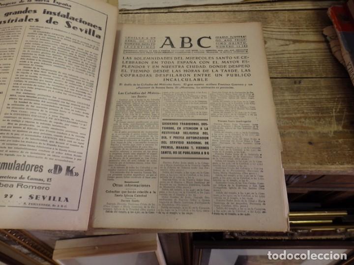 Militaria: ABC 6 de ABRIL de 1939, SEVILLA,22 PAGINAS,LIBERACION DE MADRID,ENTIERRO GARCIA MORATO,SEMANA SANTA, - Foto 4 - 152410410