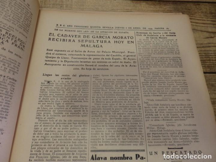 Militaria: ABC 6 de ABRIL de 1939, SEVILLA,22 PAGINAS,LIBERACION DE MADRID,ENTIERRO GARCIA MORATO,SEMANA SANTA, - Foto 5 - 152410410