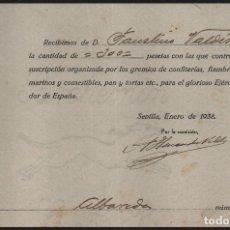 Militaria: SEVILLA, CONTRIBUYE ...EJERCITO SALVADOR, AÑO 1938, VER FOTO. Lote 152814354