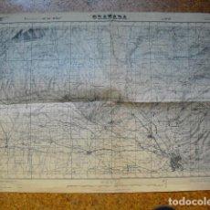 Militaria: GUERRA CIVIL MAPA DE GRANADA EJERCITO NACIONAL. Lote 152878986