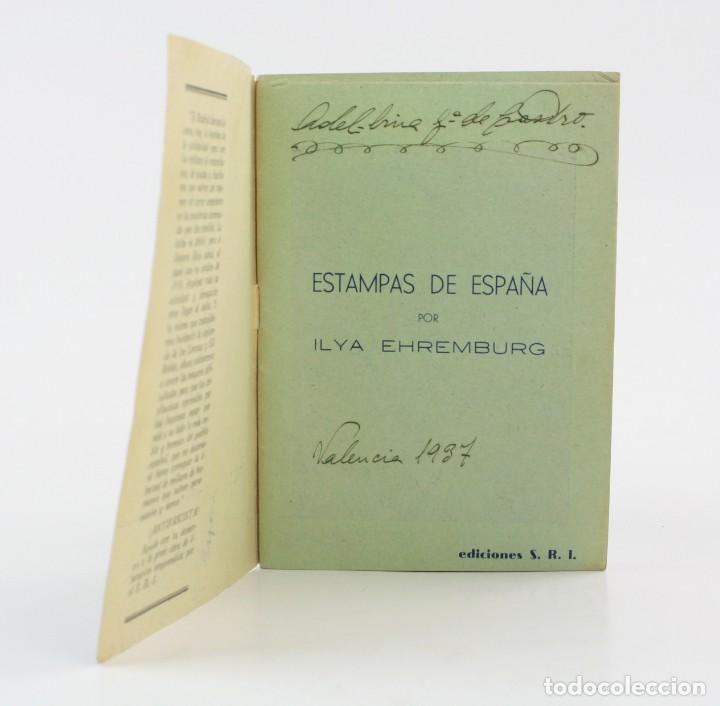 Militaria: Estampas de España, Ilya Eremburg, 1937, ilustraciones YES, Guerra Civil, con anotaciones. 17x12cm - Foto 3 - 153942742
