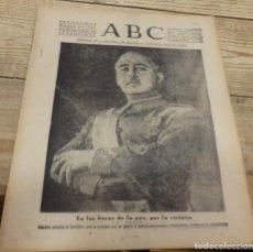 Militaria: ABC 30 DE MARZO DE 1939, SEVILLA,18 PAGINAS,ALCALA DE HENARES,SAGUNTO,LINARES,JAEN,BAILEN,PUERTOLLAN. Lote 154178518