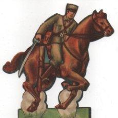 Militaria: EJERCITO POPULAR, -CABALLERIA SOLDADO- MIDE: 14 X 10 C.M. VER FOTOS. Lote 154465822