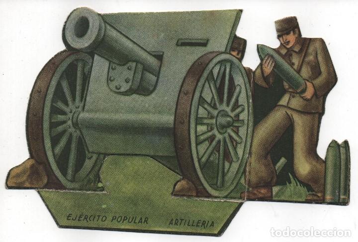 EJERCITO POPULAR, - ARTILLERIA -GRAN TAMAÑO- MIDE: 15 X 10 C.M. VER FOTOS (Militar - Guerra Civil Española)