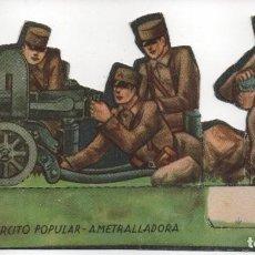 Militaria: EJERCITO POPULAR, - AMETRALLADORA-GRAN TAMAÑO- MIDE: 15 X 8 C.M. VER FOTOS. Lote 154527202