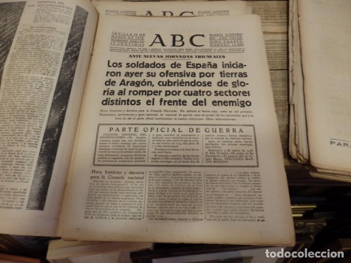 Militaria: ABC 10 DE MARZO DE 1938, 21 PAGINAS, FRENTE DE ARAGON,FUERO DEL TRABAJO, PARTE DE GUERRA - Foto 3 - 154993582