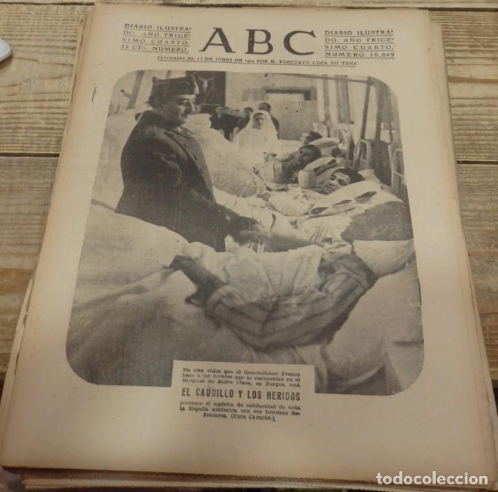 ABC 9 DE MARZO DE 1938, 18 PAGINAS, EL CAUDILLO VISITA A LOS HERIDOS, PARTE DE GUERRA (Militar - Guerra Civil Española)