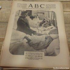 Militaria: ABC 9 DE MARZO DE 1938, 18 PAGINAS, EL CAUDILLO VISITA A LOS HERIDOS, PARTE DE GUERRA. Lote 154994098