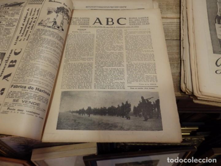 Militaria: ABC 9 DE MARZO DE 1938, 18 PAGINAS, EL CAUDILLO VISITA A LOS HERIDOS, PARTE DE GUERRA - Foto 2 - 154994098