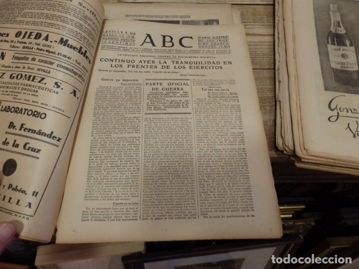 Militaria: ABC 9 DE MARZO DE 1938, 18 PAGINAS, EL CAUDILLO VISITA A LOS HERIDOS, PARTE DE GUERRA - Foto 4 - 154994098