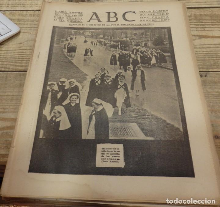 ABC 25 DE FEBRERO DE 1938, 26 PAGINAS, BILBAO,FRENTE DE TERUEL,CORDOBA,MIGUEL FLETA,ETC (Militar - Guerra Civil Española)