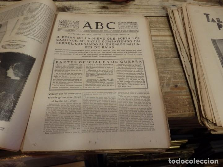 Militaria: ABC 4 DE ENERO DE 1938, SEVILLA,26 PAGINAS, MILLAN ASTRAY AVILA, BATALLA TERUEL,BILBAO,ETC... - Foto 4 - 155080606