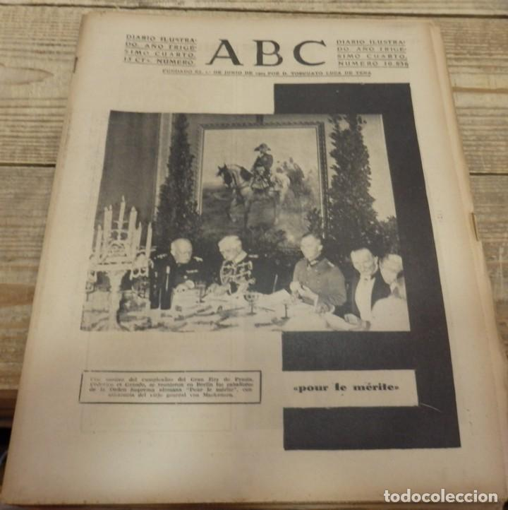 ABC 22 DE FEBRERO DE 1938, 30 PAGINAS, FRENTE DE TERUEL,PARTE DE GUERRA,ETC (Militar - Guerra Civil Española)