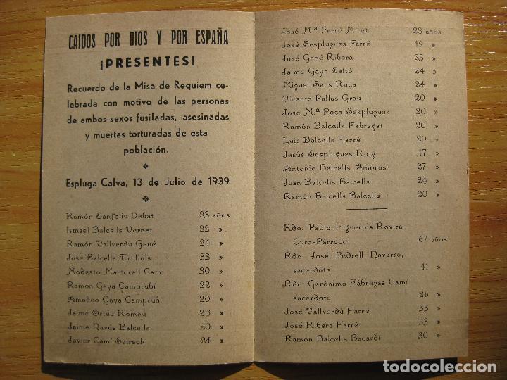 Militaria: IN MEMORIAM - ESPLUGA CALVA, 13 DE JULIO DE 1939 - Foto 3 - 155441798