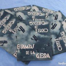 Militaria: 10 ESTAMPAS DE LA GUERRA 5º CUERPO DE EJERCITO GUERRA CIVIL. Lote 155444218