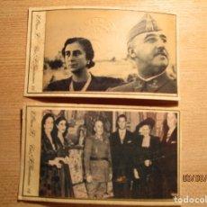 Militaria: FRANCO CARMEN POLO Y FAMILIA CUÑO TROQUEL FALANGE ESPAÑA FOTOGRAFIA E. OTERO MADRID. Lote 157312384