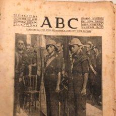 Militaria: ABC SEVILLA GUERRA CIVIL 1937 CADIZ BENDICION BANDERAS. CATALUÑA ROJA. Lote 157738814