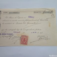 Militaria: RECIBO ABONO BANCO DE ESPAÑA 1939 GUERRA CIVIL. Lote 158554953