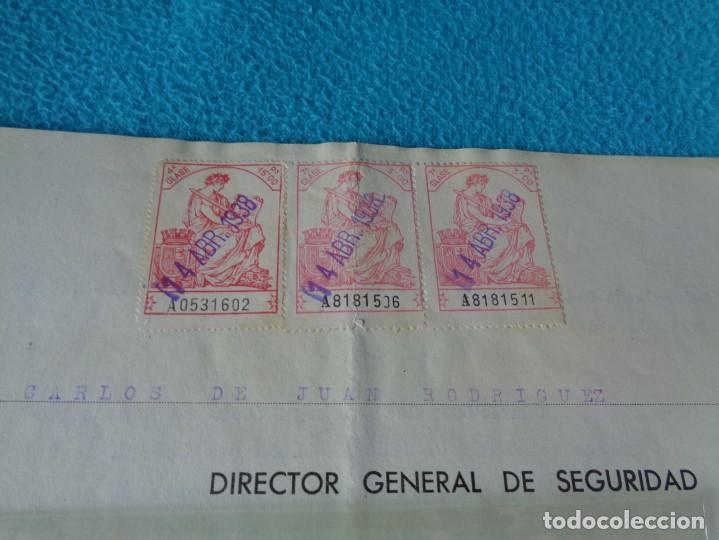 Militaria: lote titulo de nombramiento de agente del cuerpo de seguridad grupo civil 1938 valencia + 6 postales - Foto 3 - 158798462