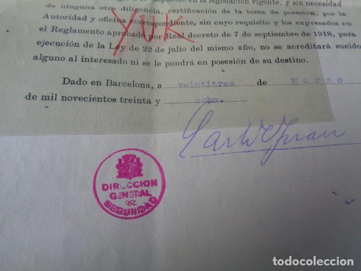 Militaria: lote titulo de nombramiento de agente del cuerpo de seguridad grupo civil 1938 valencia + 6 postales - Foto 6 - 158798462