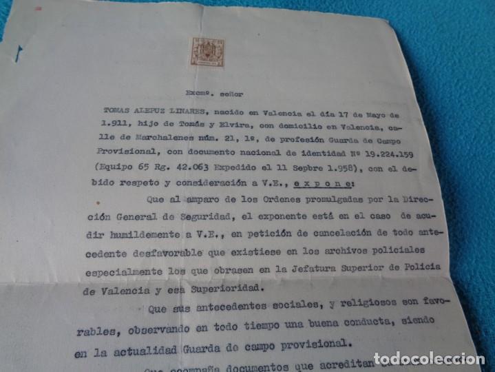 Militaria: lote titulo de nombramiento de agente del cuerpo de seguridad grupo civil 1938 valencia + 6 postales - Foto 16 - 158798462