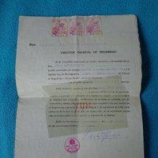 Militaria: LOTE TITULO DE NOMBRAMIENTO DE AGENTE DEL CUERPO DE SEGURIDAD GRUPO CIVIL 1938 VALENCIA + 6 POSTALES. Lote 158798462