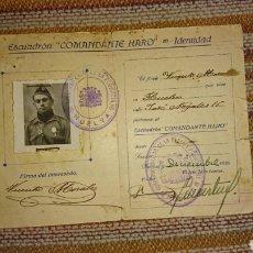 Militaria: CARTILLA ESCUADRÓN COMANDANTE HARO. Lote 158974926
