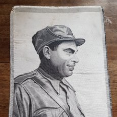 Militaria: JACQUARD TELA ORIGINAL COMMEMORACION MUERTE BUENAVENTURA DURRUTI CNT FAI GUERRA CIVIL. Lote 160782633