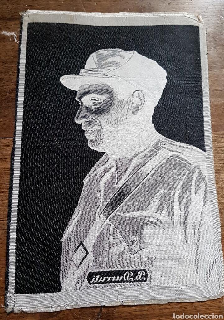 Militaria: Jacquard Tela original commemoracion Muerte Buenaventura Durruti CNT FAI Guerra civil - Foto 2 - 160782633