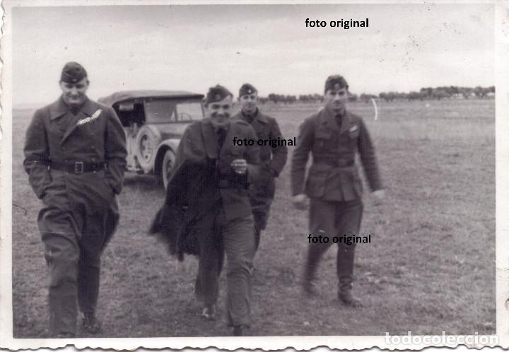LLEGADA AERODROMO OFICIALES PILOTOS LEGION CONDOR 1938 GUERRA CIVIL (Militar - Guerra Civil Española)
