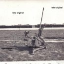 Militaria: AMETRALLADORA FLAK 30 DE 20MM LEGION CONDOR DELANTE PARADA MILITAR AERODROMO 1939 GUERRA CIVIL. Lote 160845898