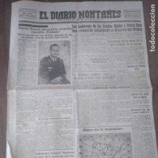 Militaria: EL DIARIO MONTAÑÉS 5 DE ABRIL 1939. RECIÉN ACABADA LA GUERRA. GARCÍA MORATO SANTANDER . Lote 160978302