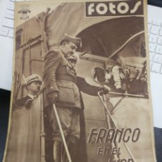 Militaria: SEMANARIO FOTOS. Nº 67 11 JULIO 1938. Lote 163338601
