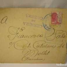 Militaria: CARTA CENSURA DE GUERRA 1938. Lote 165686270