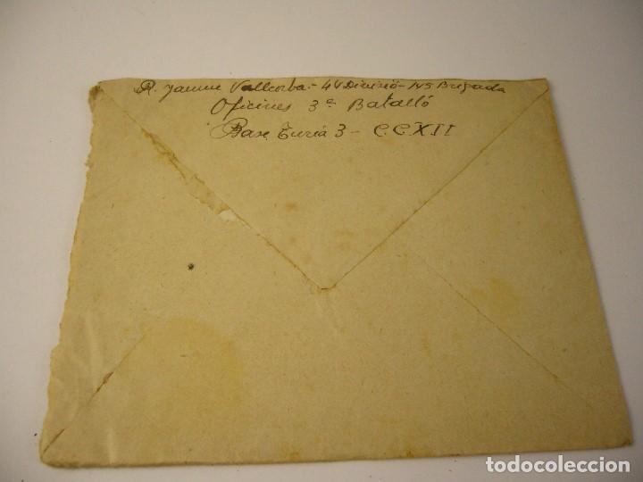 Militaria: CARTA CENSURA DE GUERRA 1938 - Foto 3 - 165686270