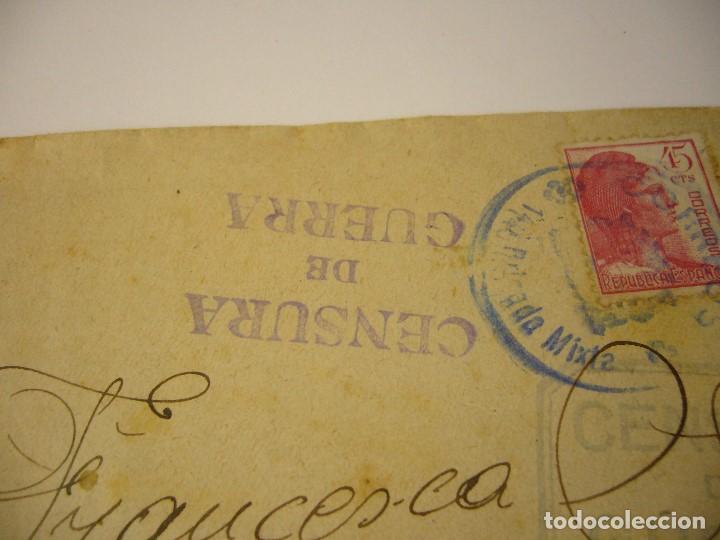 Militaria: CARTA CENSURA DE GUERRA 1938 - Foto 5 - 165686270
