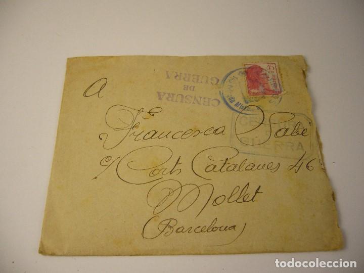 Militaria: CARTA CENSURA DE GUERRA 1938 - Foto 6 - 165686270