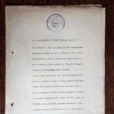 Militaria: ESCRITURA DE LA LIQUIDACIÓN DE LA DELEGACIÓN DE FRENTES Y HOSPITALES DE ALICANTE JUNIO 1939 FALANGE. Lote 165787186