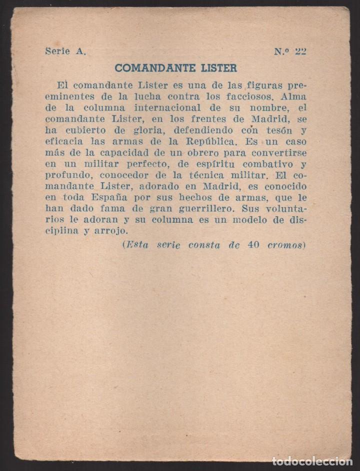 Militaria: GUERRA CONTRA EL FASCISMO. -COMANDANTE LISTER- Nº 22, VER FOTO - Foto 2 - 167662440