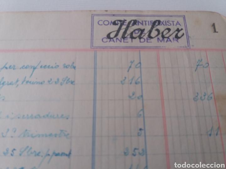 Militaria: CANET DE MAR. BARCELONA. COMITÉ ANTIFEIXISTA. INTERVENCIÓN CUENTAS EMPRESA 1936 1937 - Foto 4 - 167929228