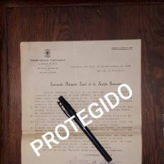 Militaria: FALANGE SECCION FEMENINA VALENCIA TRASLADO DE LOS RESTOS DE JOSE ANTONIO DE ALICANTE A MADRID 1939 . Lote 168312528