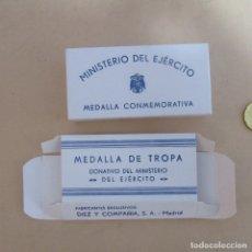 Militaria: CAJA MILITAR FALANGE DIVISION AZUL PARA MEDALLA TAMAÑO GRANDE GUERRA CIVIL. Lote 168378508