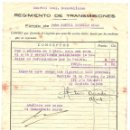 Militaria: REGIMIENTO DE TRANSMISIONES, FONDO DE UN CABO POR MEDALLA DE SUFRIMIENTOS POR LA PATRIA AÑO 1939. Lote 168494648