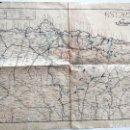 Militaria: PLANO ASTURIAS DEL DESARROLLO OPERACIONES ESTADO MAYOR FRANQUISTA EN LA GUERRA DEL NORTE AÑO 1937. Lote 168499152