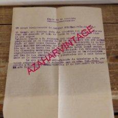 Militaria: SEVILLA, 1937,ESCRITO SOBRE MEDALLA MILITAR COLECTIVA, HECHOS 18 DE JULIO DE 1936. Lote 168693360
