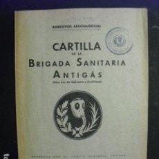 Militaria: 1937 CARTILLA DE LA BRIGADA SANITARIA ANTIGAS T. CAMPUZANO. Lote 168728020