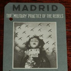 Militaria: POSTAL ORIGINAL DE LA GUERRA CIVIL, REPUBLICANA, MADRID: THE MILITARY PRACTICE OF THE REBELS, NO CIR. Lote 169406796