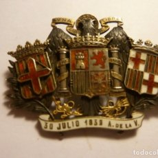 Militaria: INSIGNIA FRANQUISTA ESCUDO BARCELONA Y DIPUTACION. Lote 169723824