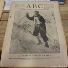 Militaria: ABC 19 DE MARZO DE 1939, ,18 PAGINAS, PARTE DE GUERRA, LANJARON,, ETC. Lote 171584412